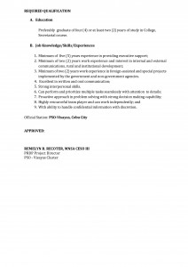 TOR-Executive Assistant page 2